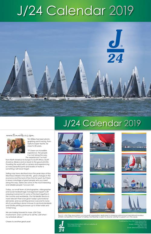 2019 J/24 Calendar