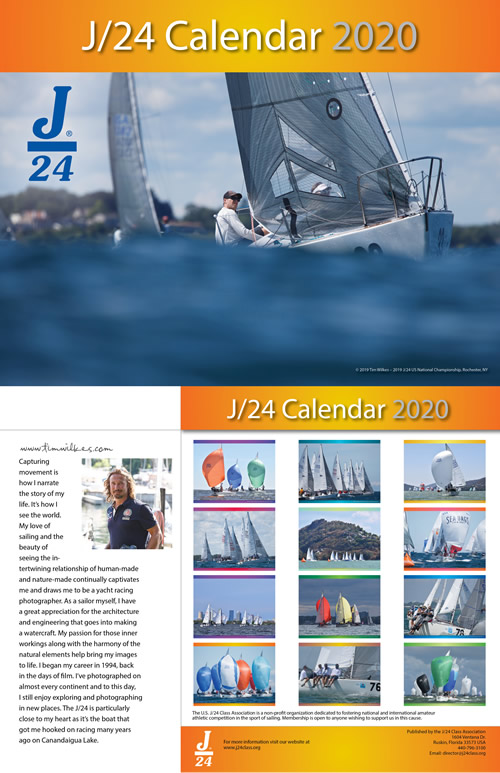2020 J/24 Calendar