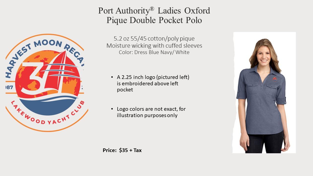 Ladies Port Authority Double Pkt Polo