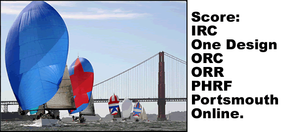 Score IRC, One Design, ORC, ORR, PHRF or Portsmouth Online.