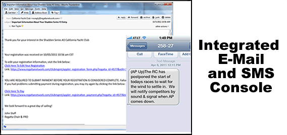 Integrated Email and SMS Messaging